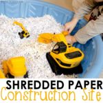 Construction Site Sensory Bin