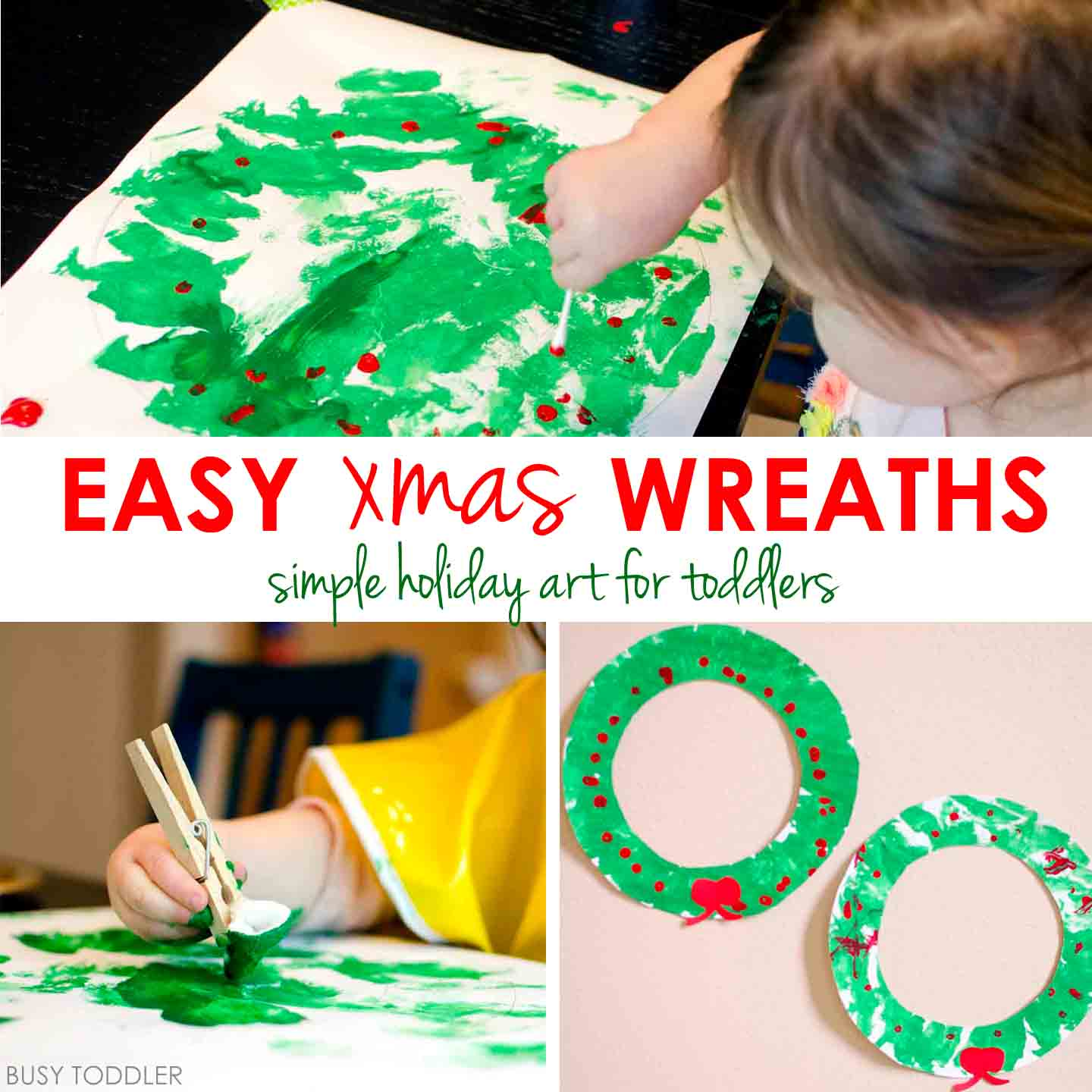 Easy Christmas Wreath Activity Busy Toddler