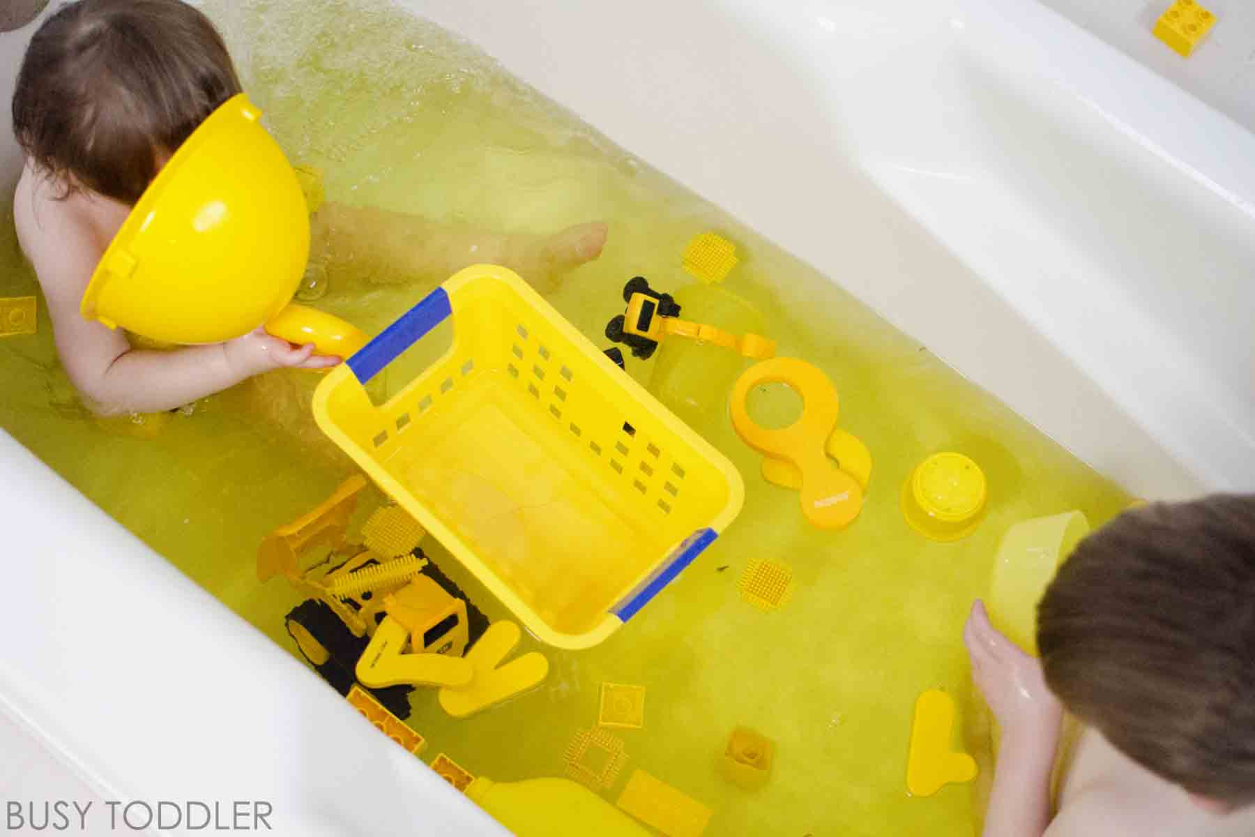 Color Bath Toddler Activity - Busy Toddler