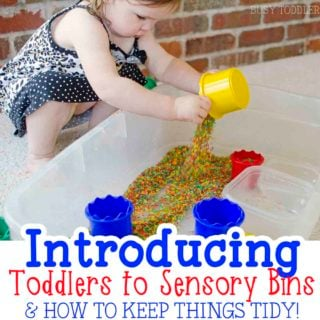 Introducing toddlers to sensory bins