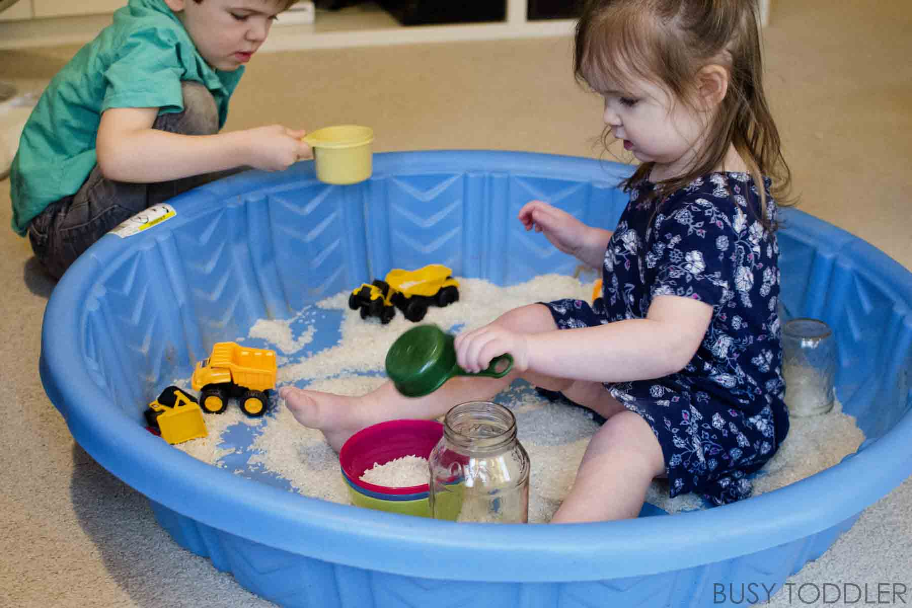 Giant Rice Pool Sensory Busy Toddler