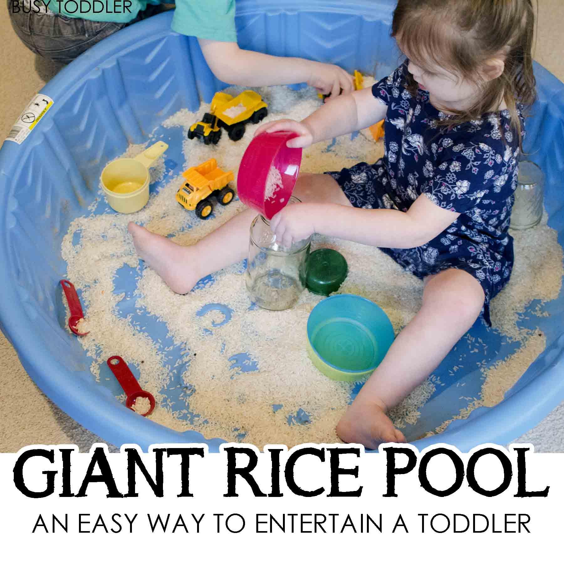Giant Rice Pool Sensory