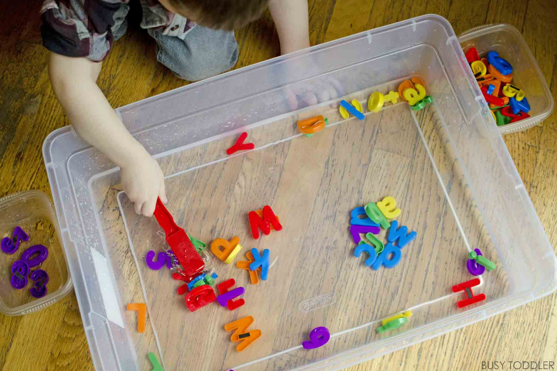 Magnetic Alphabet Fishing - Busy Toddler