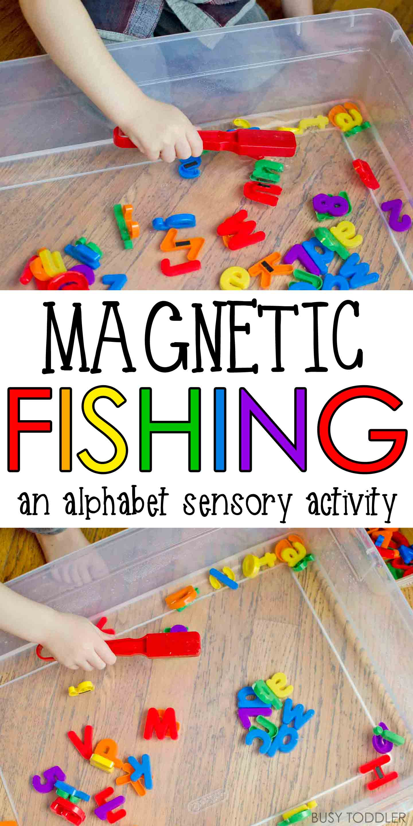 Magnetic Alphabet Fishing Busy Toddler