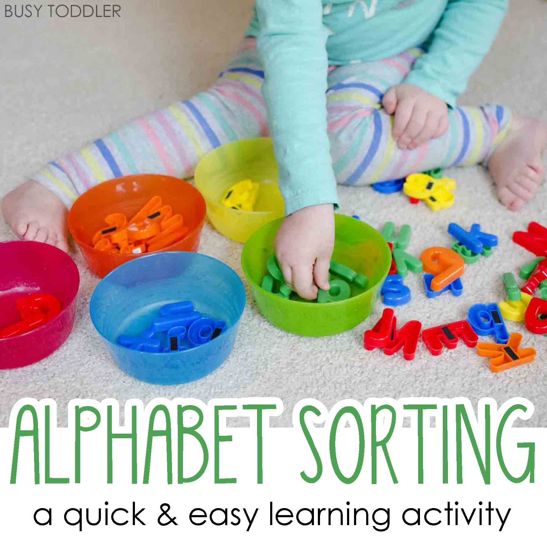Easy Alphabet Sorting Activity