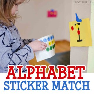 Alphabet Sticker Match