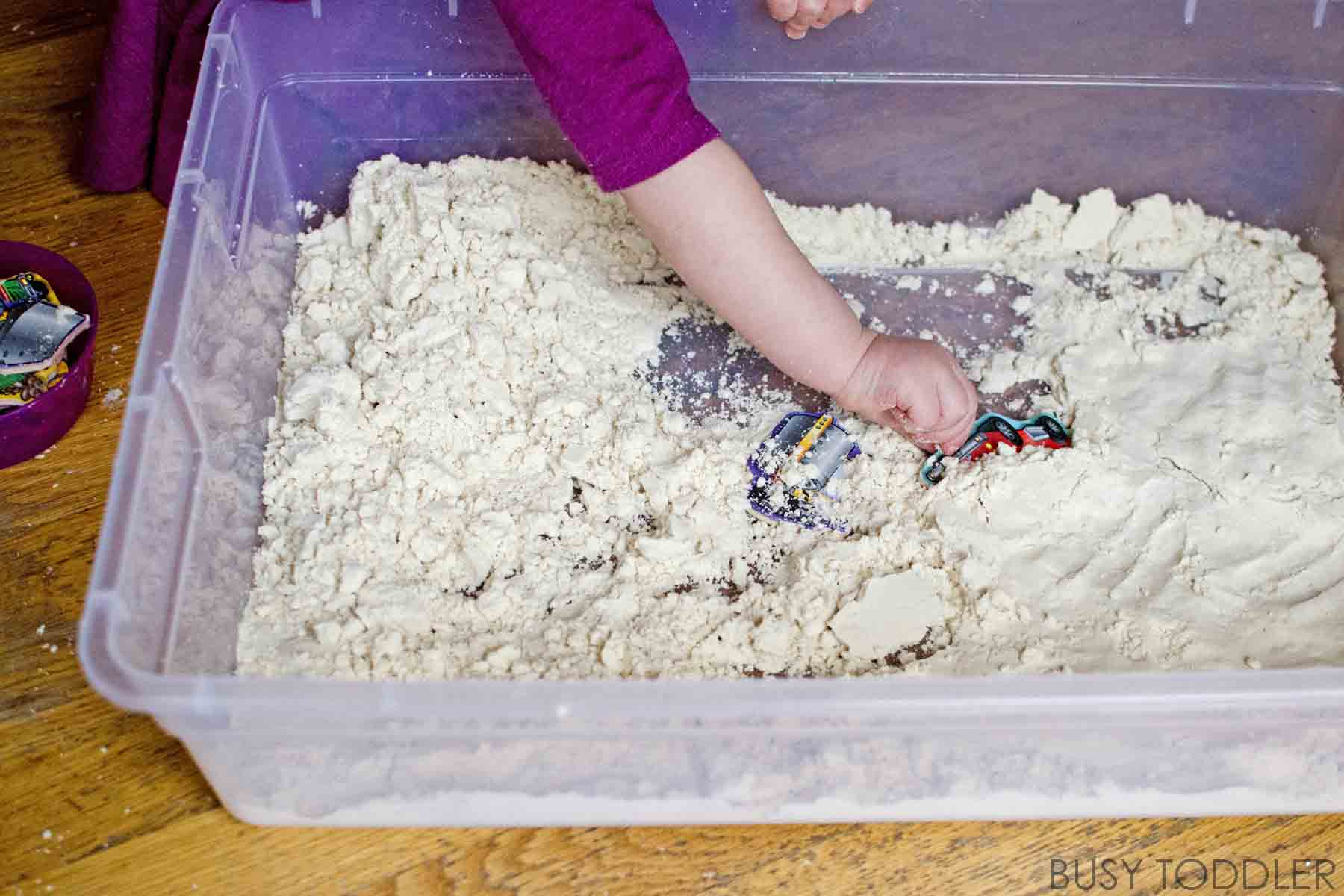 CLOUD DOUGH HIDE AND SEEK: A fun taste safe sensory activity for toddlers; a quick and easy activity that toddlers will love; a fast to prep activity that you have all the ingredients for! So quick and easy and fun for toddlers to play
