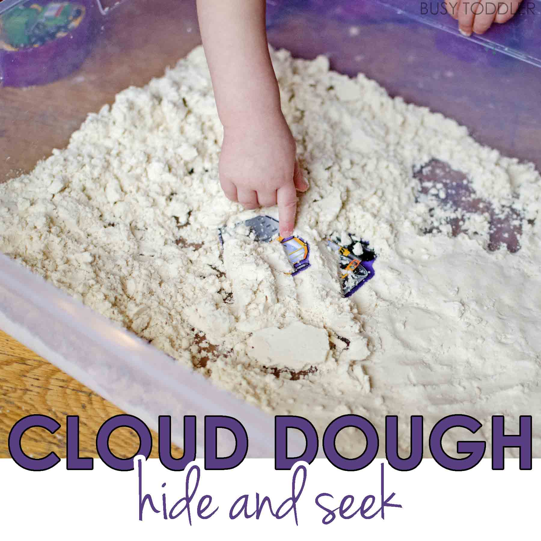 Cloud Dough Hide and Seek