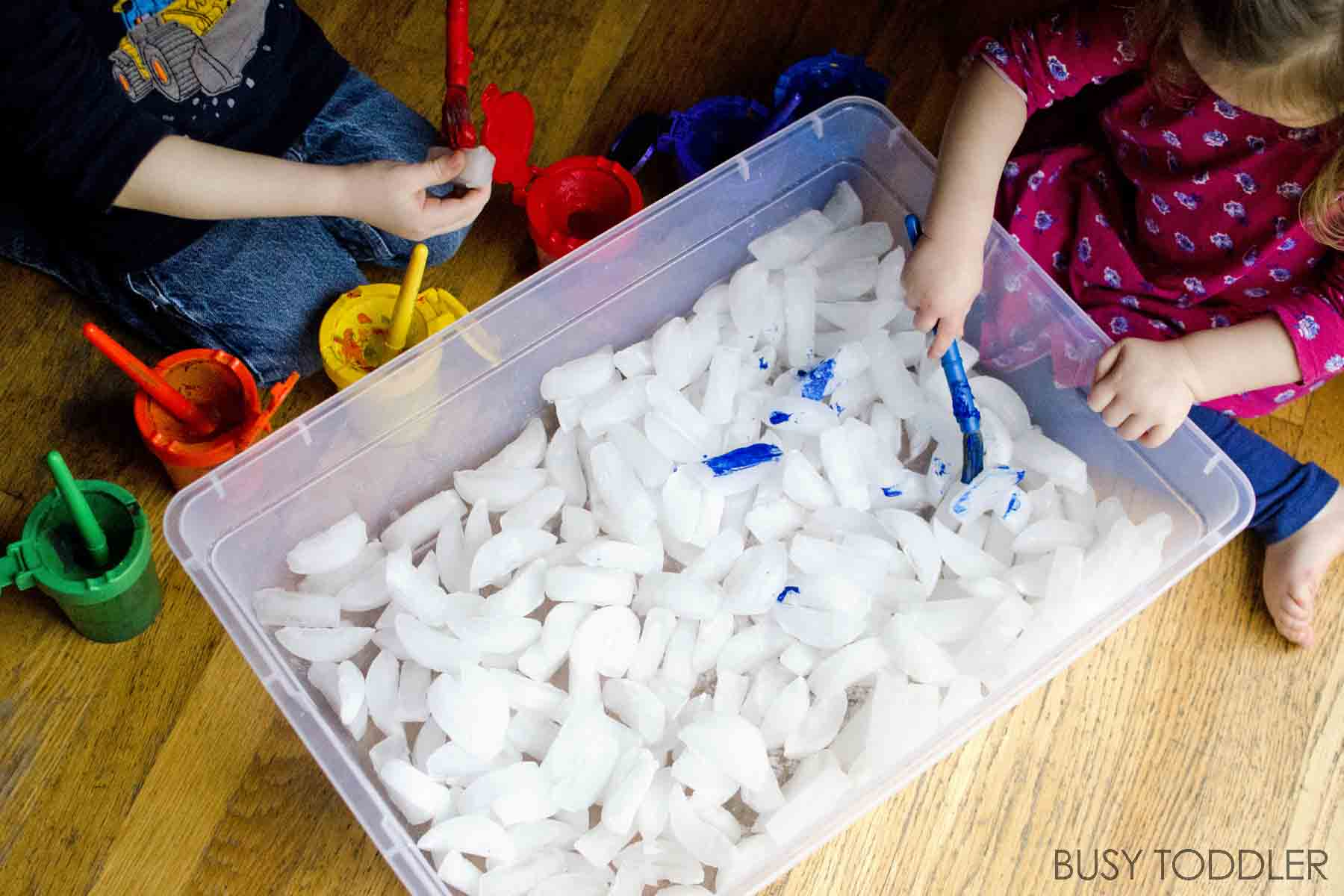Painting Ice Cubes Activity Busy Toddler