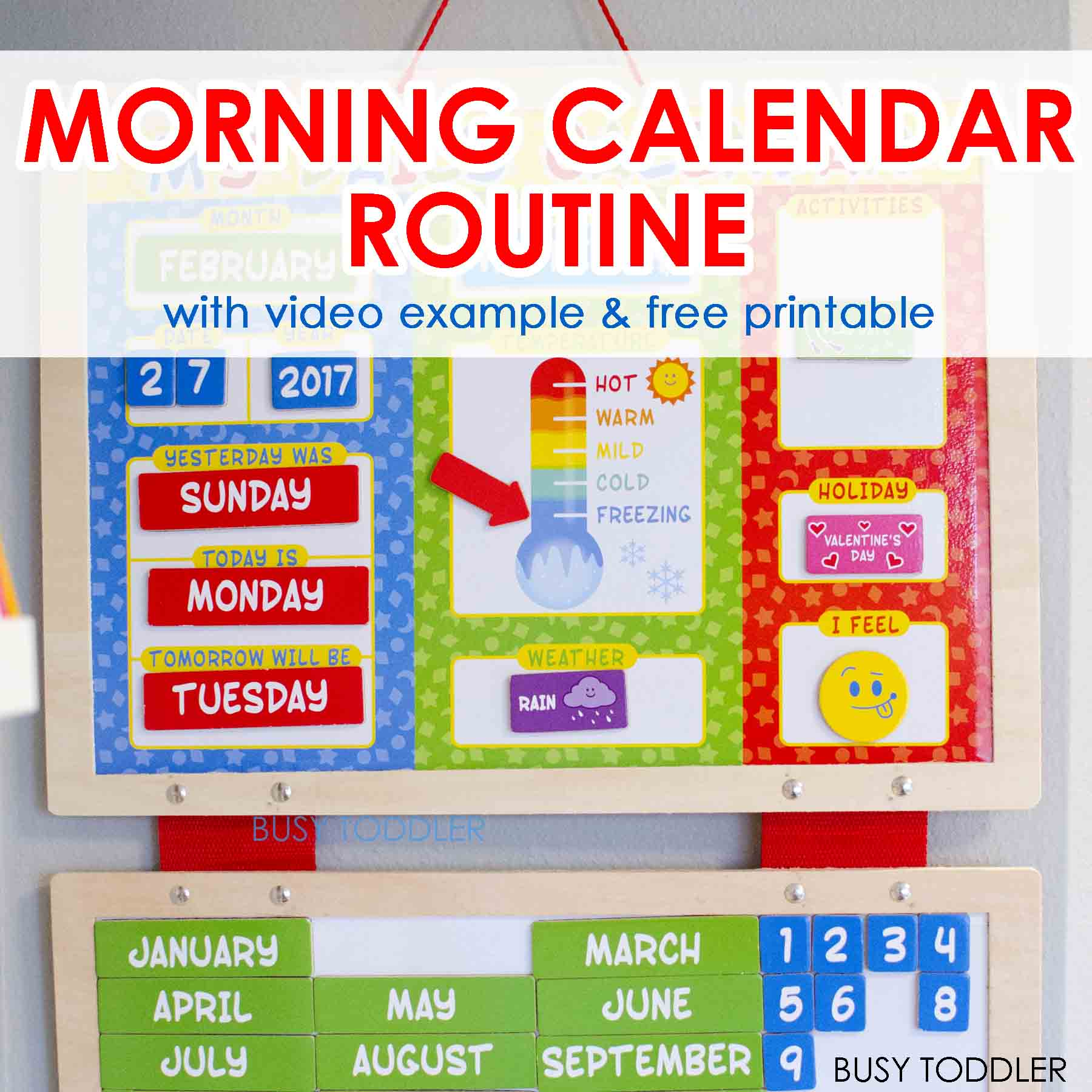 Calendar Math Games Kindergarten : Easy morning calendar routine busy toddler
