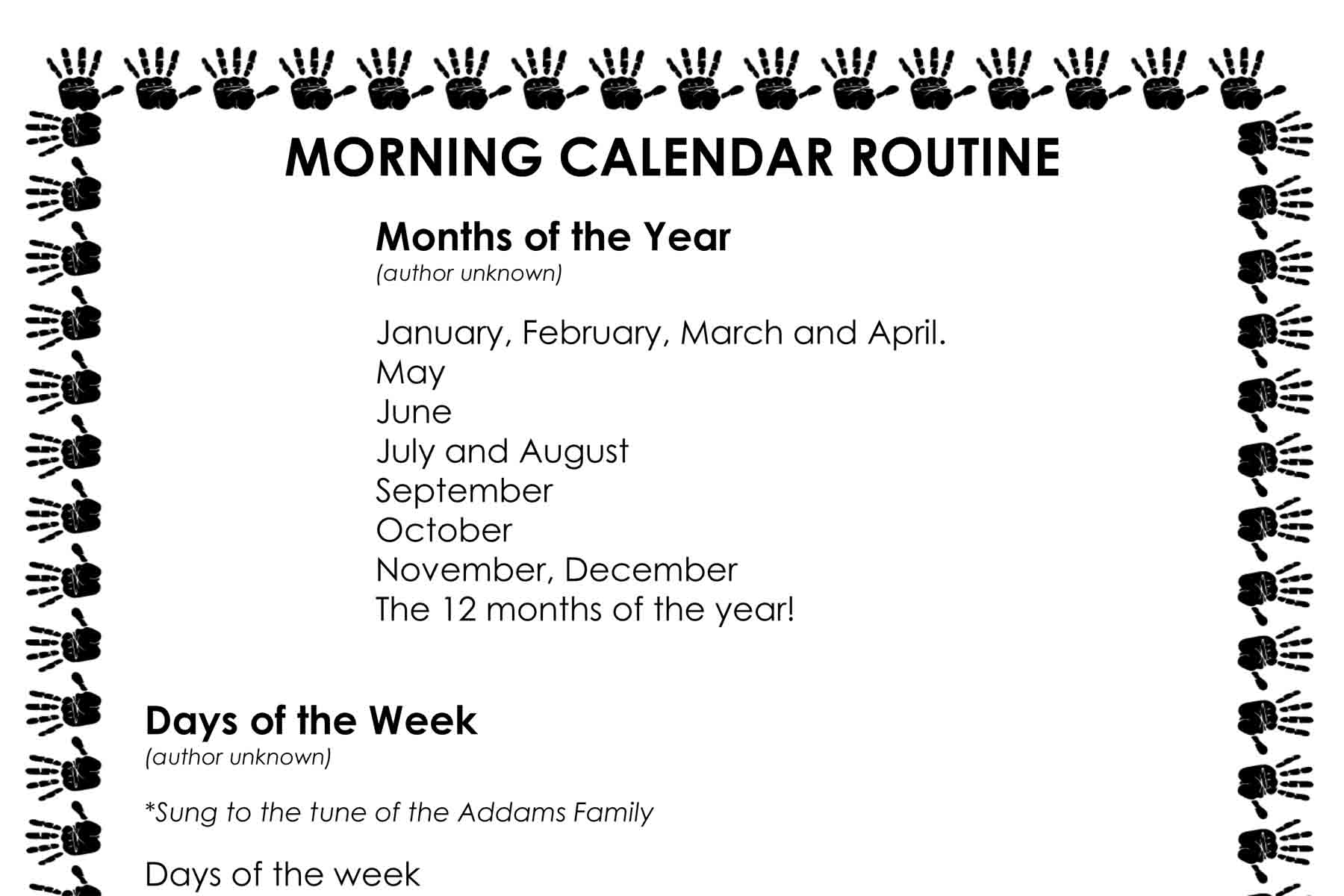 easy morning calendar routine busy toddler