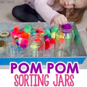 Pom Pom Sorting Jars