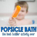 Popsicle Bath Activity