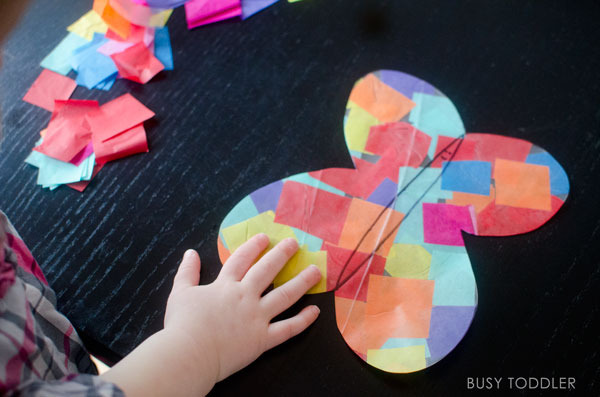 Easy Butterfly Craft Busy Toddler
