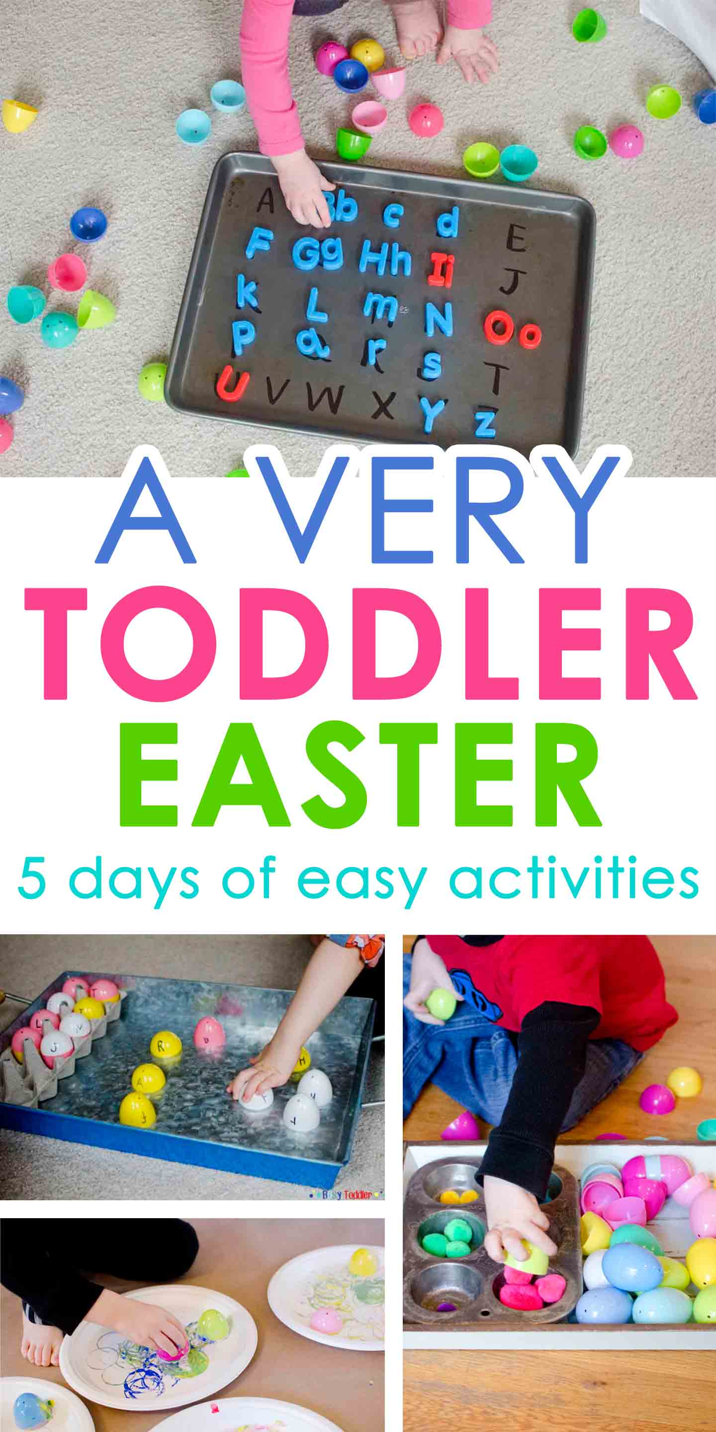 A VERY TODDLER EASTER: Check out these easy and fun toddler easter activities that are perfect for little ones. So many easy Easter ideas!