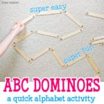 Easy Alphabet Dominoes