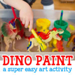 Painting Dinosaurs Process Art