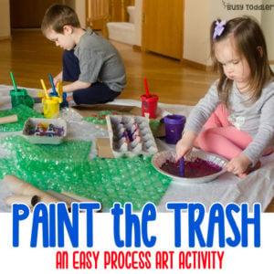 Paint the Trash: Easy Process Art
