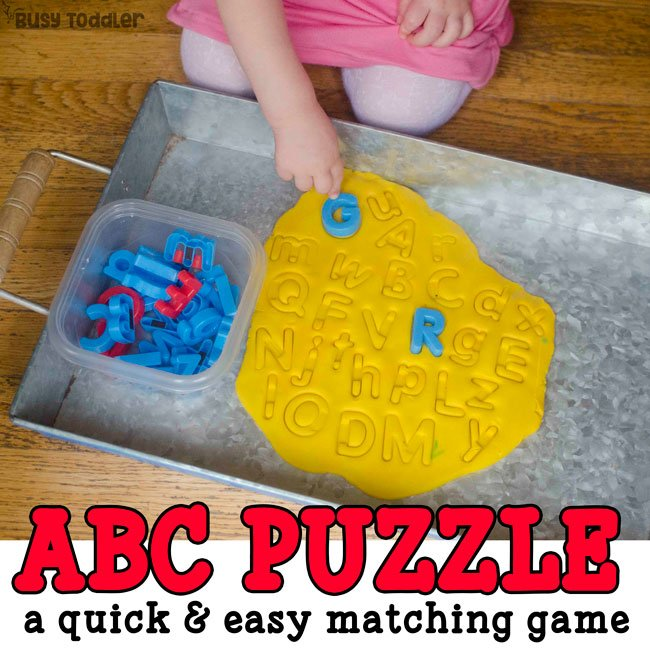 Alphabet Play Dough Puzzle