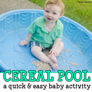 Cereal Pool – Baby Sensory Bin