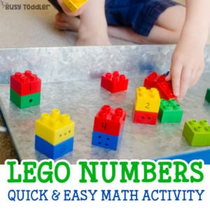 Lego Numbers – Easy Counting Activity