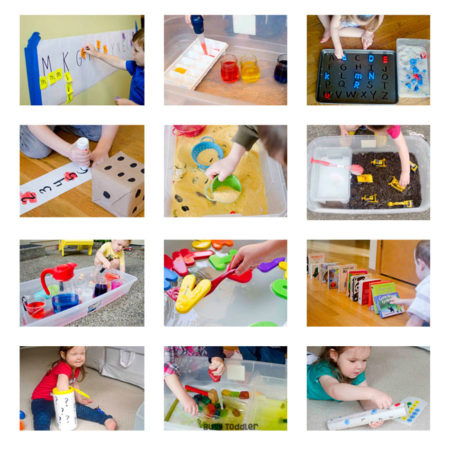 HOMESCHOOL PRESCHOOL PROGRAM: Meet Playing Preschool - 190 days of at-home learning for preschoolers; easy activities for preschoolers; home preschool program; alphabet activities; quick and easy learning activities from Busy Toddler