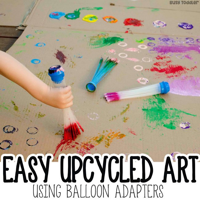 Upcycled Process Art with Balloon Adapters