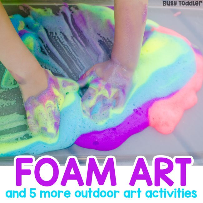 Easy Outdoor Art Ideas For Kids Busy Toddler