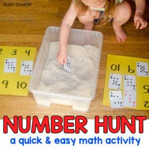 Number Hunt Math Sensory Bin