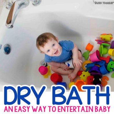 Dry Bath: Quick Baby Activity