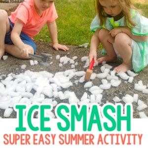 Easy Summer Activity: Ice Smash Game