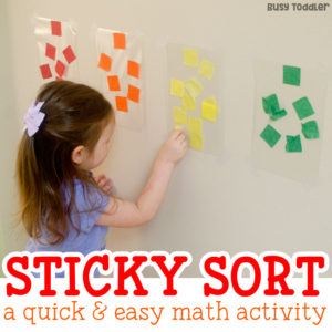 Easy Sorting Activity: Sticky Color Sort