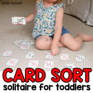 Toddler Math Game: Card Sort