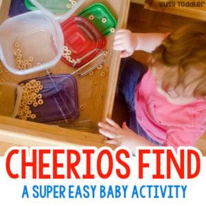 Cheerios Find: Fine Motor Skills Baby Activity