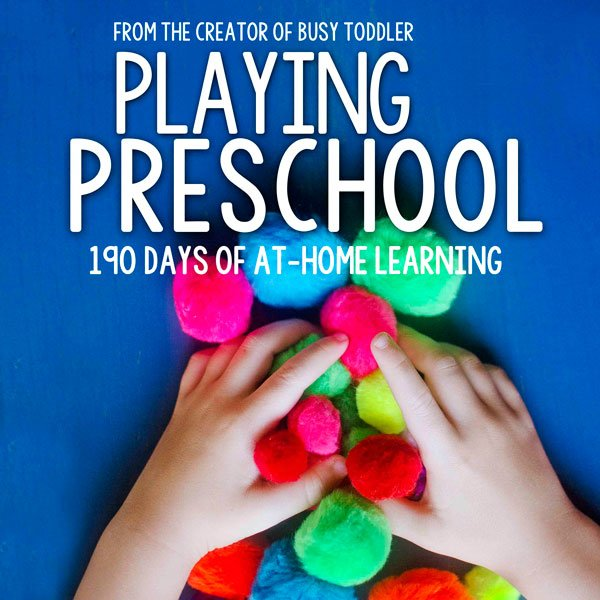 PLAYING PRESCHOOL: An easy homeschool preschool option for busy parents; 190 days of easy activities; 19 themed units full of quick and easy activities