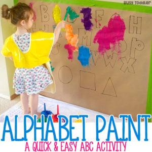 Easy Alphabet Painting Activity