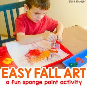 Easy Fall Art Activity