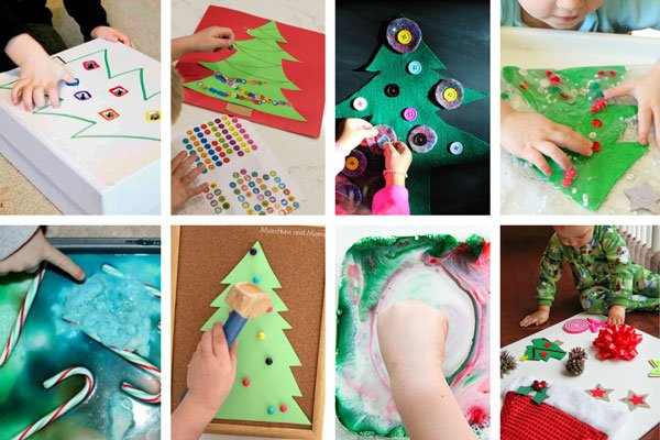 EASY TODDLER CHRISTMAS ACTIVITIES: Check out these awesome Christmas activities for toddlers; Christmas activities for preschoolers; toddler holiday activities; easy indoor activities; easy toddler activities from Busy Toddler