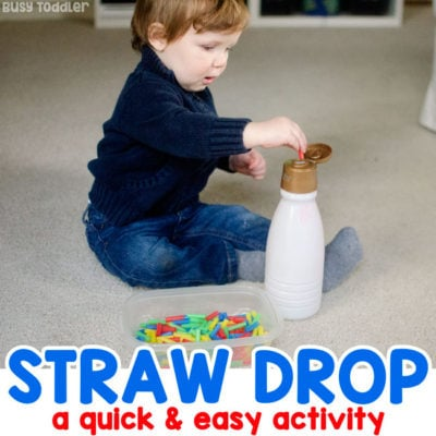 Easy Straw Drop Activity