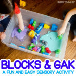 Easy Sensory Activity: Blocks and Gak