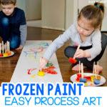 Frozen Paint: Process Art Activity