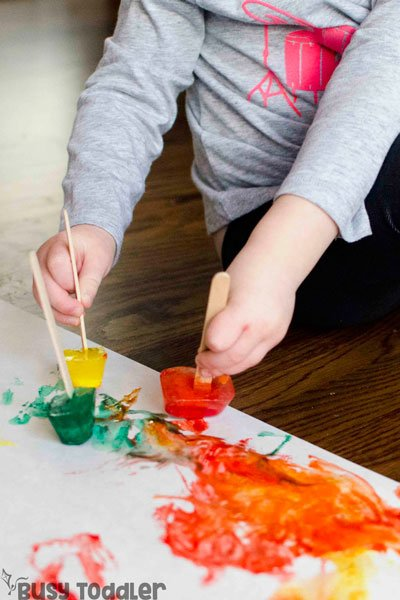 Hand Paint Art For Toddlers