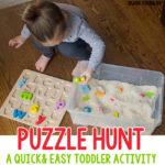 Puzzle Hunt Sensory Bin