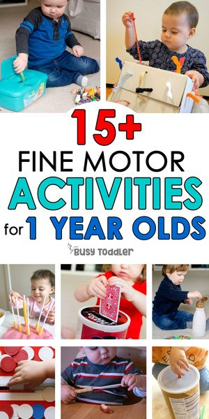 ACTIVITIES FOR 1 YEAR OLDS: Easy activities for young toddlers; perfect for 18 month olds; easy activities for tabies; taby activities; easy toddler activities from Busy Toddler