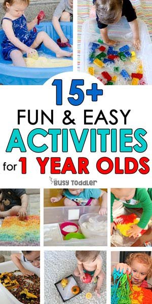 ACTIVITIES FOR 1 YEAR OLDS: The best activities for one year olds from Busy Toddler - a list of easy indoor activities for tabies; taby activities