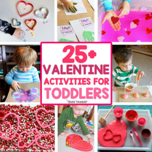 EASY VALENTINE'S DAY ACTIVITIES FOR TODDLERS: An awesome list of Valentine's Dat activities; arts and craft valentines; valentines sensory play from Busy Toddler