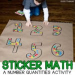 Preschool Number Sense Activity: Dot Sticker Math