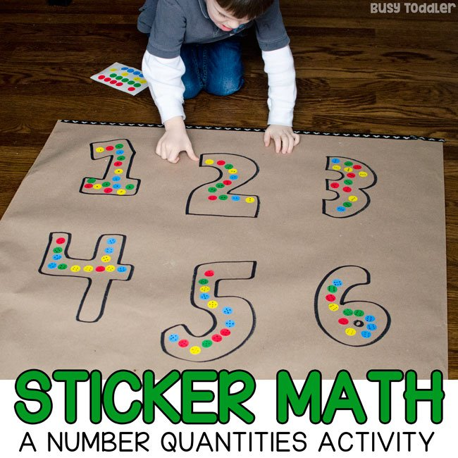 dot sticker math a preschool number sense activity