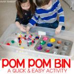 Make an Easy Pom Pom Sensory Bin