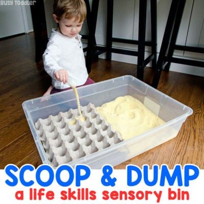 Make a Cornmeal Scooping Station